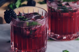 Blackberry Gin Gimlet